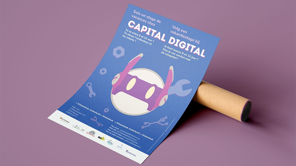 Capital Digital - poster mockup